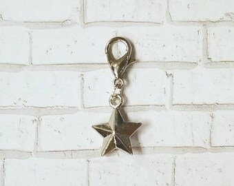 Nautical Star Planner Charm - Journal Accessories - Travelers Notebook Jewelry - Space - Galaxy - Universe - Celestial - Astrology - Compass
