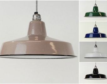 Industrial Enamel Vintage Factory Warehouse Style Light Lamp Shade - 5 Colours