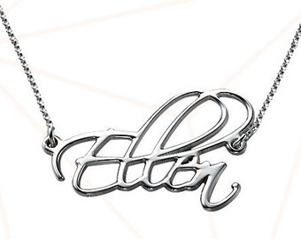 Sterling silver  or Gold Script Necklace Chain