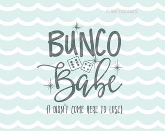 Bunco SVG Bunco Babe SVG File. Cricut Explore & more. Cut or Printable. Bunco Babe Game Dice Pink Game Lover Bunco Game SVG