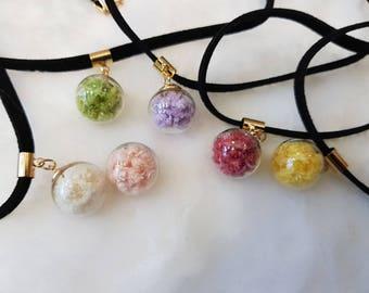 Preserved chrispam choker necklace