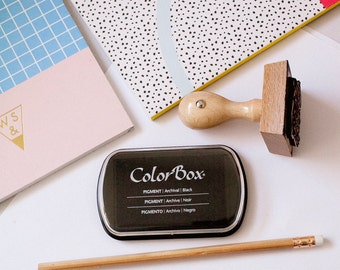 ColorBox Rubber Stamp Ink  Pad, Rubber Stamp Ink, Stamp Pad, Stamping Ink, Inker, Black Stamp Pad