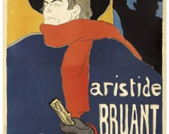 Vintage Aristide Bruant Toulouse Lautrec Poster Print