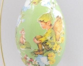 Woodland Elf with Mouse, Fairy Elf, Woodland Gift Idea, Elf Gift Idea, Woodland Home Decor, Faberge Decorated Egg