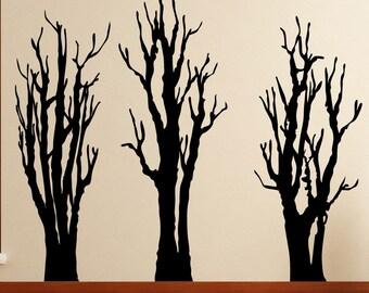 Vinyl Wall Decal Sticker Three Bare Trees 5305A