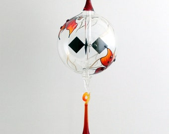 Radiometer hanging Red with Flames