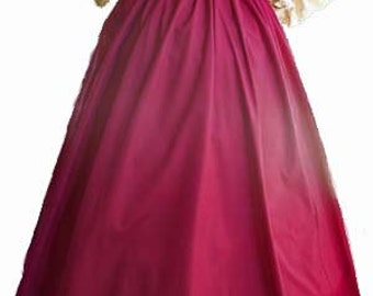 Handmade Noble Womens Cotton Gored Skirt in Your Color for SCA, Larp, Ren Faire