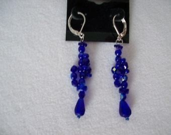 Cobalt Blue Woven Earrings