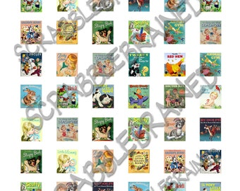 Classic Little Golden Book Covers Scrabble Tile Digital Collage 54 imges .75 in x .83 in