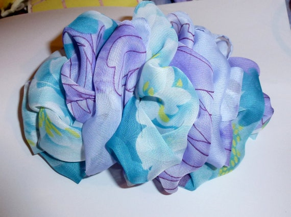 Becky Bows ~ Oversized  ladies  Hand crafted huge  BIG fashion hair bow Women or Girls giant purple blue