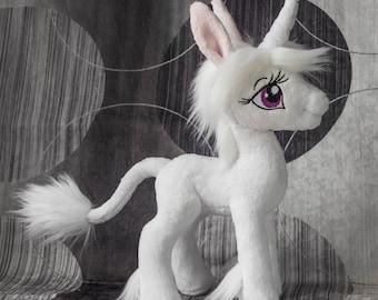 Custom Plush Toy Last Unicorn Amalthea Handmade Stuffed Toy Gift - Made to Order