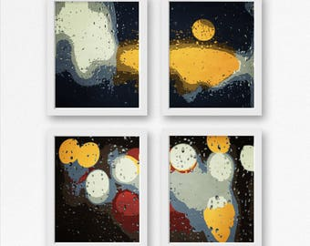 Abstract Art Set of 4, Abstract Wall Art, PRINTABLE Modern Art Abstract Prints, Office Decor, Office Wall Art, Contemporary Art Matching Set