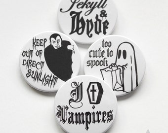 "cute as a button ""Halloween"" Button Set"