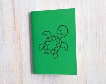 Pequeño cuaderno: Tortuga, para él, para ella, verde, Animal, bajo el mar, niños, Jotter, diario Mini, pequeño cuaderno, estampado, exclusivo, CCC220