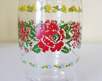 Set of 4 Bright Floral Glasses