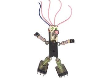 Robot Girl with Big Feet