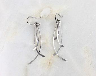 Vintage Sterling Fringe Earrings