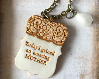 Mother of the Groom Necklace, From Bride to MOG