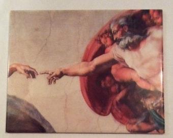 Ceramic tile Creation of Adam Michelangelo