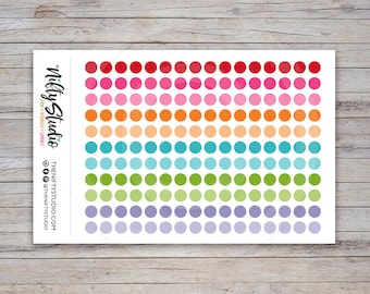 Dots Planner Stickers   Color Coding Stickers   The Nifty Studio [121]