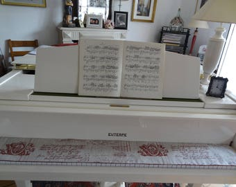 Protects keyboard / piano runner / linen / music/beige Red theme dark/double dark red velvet with