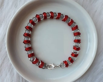 Encased Caterpillar Weave | Chainmaille Bracelet