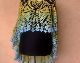 Hand crocheted poncho