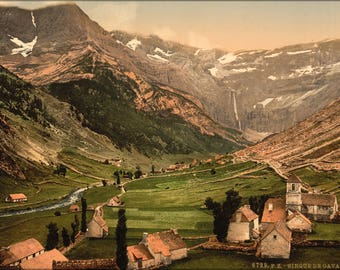 Poster, Many Sizes Available; Cirque De Gavarnie Pyrenees-Atlantiques, France 1890