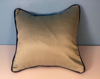 """12x12"""" Decorative Geometric Corded Pillow Cover - Tea and Blue Colorblock 12x12"""