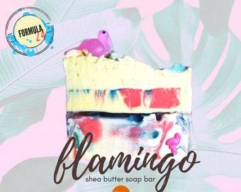 Pink flamingo Shea Butter Soap Bar|Lush Soap Bar|Summer Soap|tropical Soap Bar|natural Soap|Shea Soap Bar