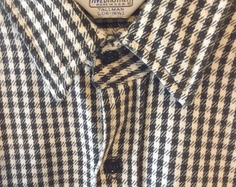 Five Brothers B&W Check Plaid Flannel