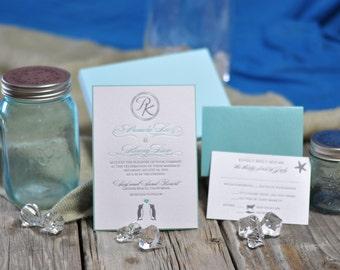 Penguin Letterpress Invitation - SAMPLE ONLY
