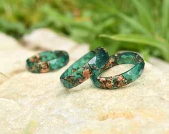 Resin Rings Etsy