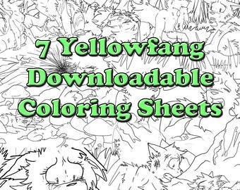 Days 811 Warrior Cats Bluestar Downloadable Coloring Sheets