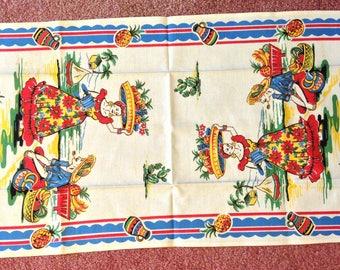 Caribbean linen or cotton tea towel -colorful!