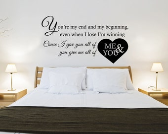 John Legend - All of me Lyrics - Wall sticker - Contemporary - Vinyl Decal - Love