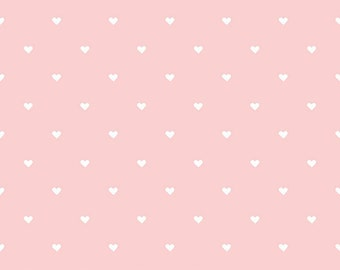 Riley Blake, When Skies are Gray by Simple Simon & Co., Pink Hearts Knit, fabric by the yard