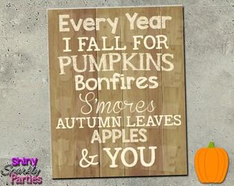 FALL PRINTABLE ART - Rustic Fall Sign - Thanksgiving Print - Fall Subway Art - Fall Art - Autumn Print - Fall Decor Instant Download Print