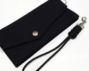 Wallet, Handy Wallet, Canvas Wallet, Travel wallet, Phone Pouch, Phone Case, Chain Wallet, Bridesmaids Gifts, Gift Under USD15 - CL