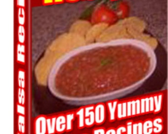 Over 150 Salsa Recipes Cookbook Instant Digital Download, Food, Eating, Kitchen