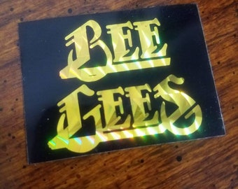 Bee Gees Prism Sticker 80's vending machine bmx style Night Fever Andy Gibb