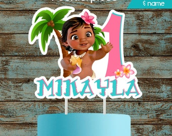Moana Baby Cake Topper, Moana Cake Topper, Printable Moana Centerpiece, Moana Birthday Party Decorations, Moana Centerpieces, Moana Cake