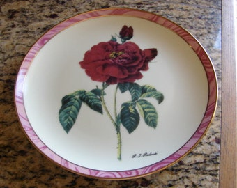 ON SALE NOW True Love Plate Danbury Mint 1993 Pierre Redoute Roses