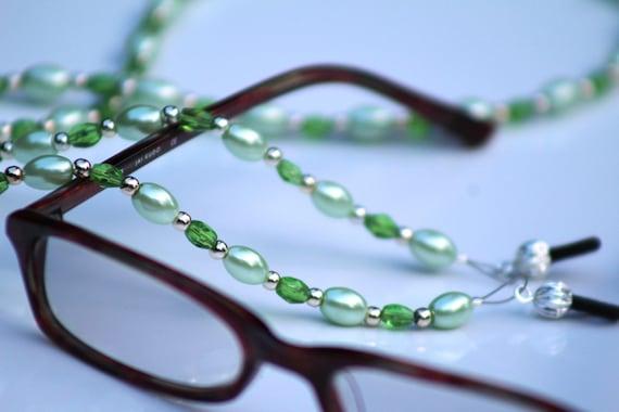 Women's Glasses Chain, Mint Green Eyeglass Chain, Glasses Holder, Light Green Readers