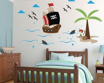 Pirates Wall Decal, Ship Wall Decal Wall sticker, Kids Wall sticker