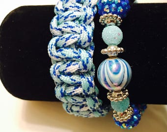 Paracord and Beads Bracelet Set