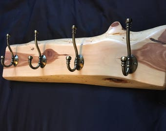 Live Edge Coat Rack