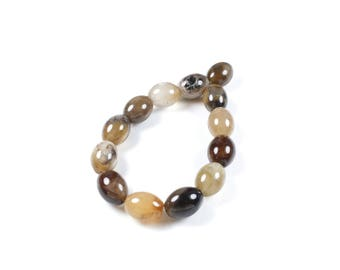 5 beads oval wood witless natural 10 x 8mm LBP00525