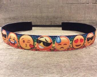 Emoji Nonslip Headband, Noslip Headband, Sports Headband, Running Headband, Athletic Headband