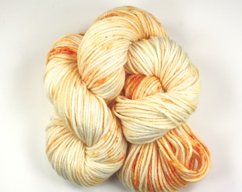 Orange Jimmies--hand dyed worsted weight, merino superwash (218yds/100gm)